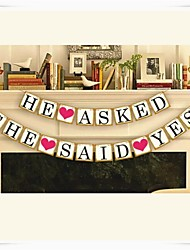 "Wedding Décor "" HE ASKED,SHE SAID YES""  Engagement Banner"