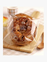 Bread Pattern Cookies Bag Set Of 10
