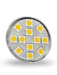 3W GU4(MR11) LED Spotlight MR11 12 SMD 5050 300 lm Warm White / Cool White Decorative DC 12 V