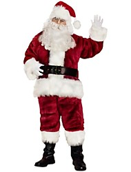 Velour Adult Men's Santa Suit(for Height:175-185cm)