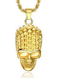 Luxury 24K Gold Skull Necklace