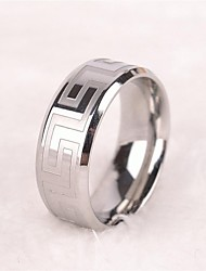 Men's Europe Simple Personality Titanium Steel Ring