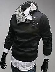 воротник шерсти сторона молния пальто черный