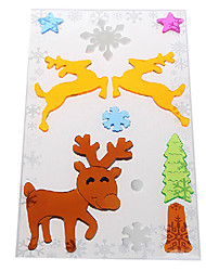 Deer Door/Window/Wall Stickers Christmas Decorations