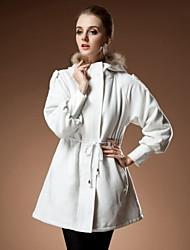 raton laveur manteau de capot de femmes