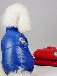 Dog Coat Red / Blue Winter Cosplay