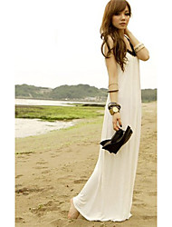 Stylish Style Halter Dress Beige(High Quality)