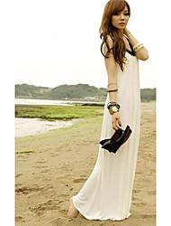 amarillento vestido halter estilo elegante (de alta calidad)