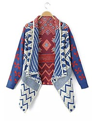 Women's Blue Cardigan , Casual Long Sleeve