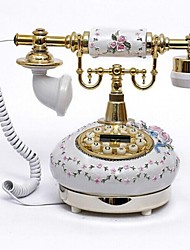 European Style Polyresin Material Home Decor Telephone with ID Display, Antique Bronze