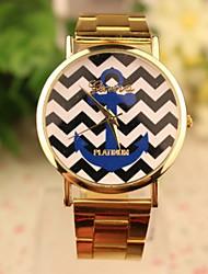 Gen causual Modestreifenmuster Vergoldung Uhren