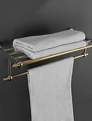 HPB Antique Ti-PVD Finish Brass Wall Mounted Towel Rack