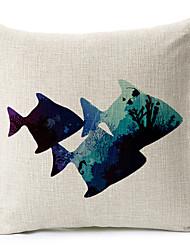 1 pcs Cotton/Linen Pillow Cover,Coastal Beach Style