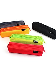 USLON®Fresh Fruit Color Good Quality Double zippers  Pen Bag Pencil Case