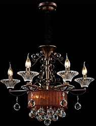 Chandelier Crystal Modern 2 Tiers Living 8 Lights