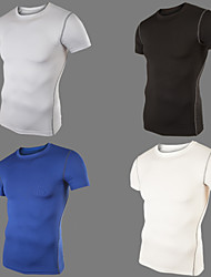 Men's T-Shirts , Rayon Short Sleeve Casual