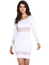 Mini - Vestido - Sexy/Bodycon - Poliéster - Con Forro