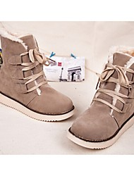 Winble Women's Fashion Causual Comfortable Low Heel Temperament Leather Martin Boots