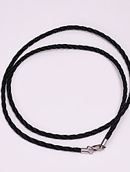 AS 925 Silver Jewelry 2 Black Pearl rope 40CM