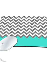 Elonbo Beautiful Chevron PU Leather Anti-slip Mousepad Computer Mouse Pad