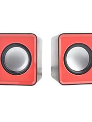 2 PCS HFIER Portable Hi-Fi Mini Speaker w/ 3.5mm Plug (60cm- Cable)