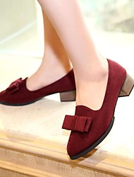 Women's Shoes Pointed Toe Chunky Heel Loafers with Bowknot Shoes More Colors available