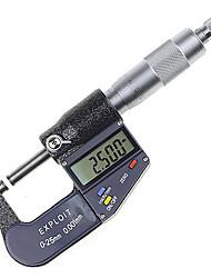 0 ~ 25 mm 0,001 mm micrómetro digital herramienta de diámetro métrico / pulgadas de medición externo explotar