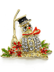 Canlyn Golden Cute Brooch With The Little Snowman