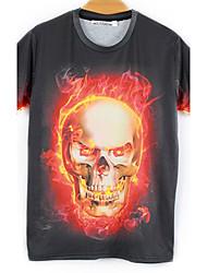 moda masculina de mirtilo 3d imprimir curto tshirt 3103