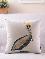 padrão vívido pássaro algodão / fronha decorativo linho