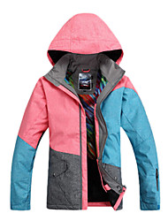 Gsou Snow Outdoor Three Color Splicing Women's Anti-wear Skiing Down Jacket