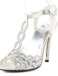 T-strap shoes talon aiguille en satin sandales chaussures plus de couleurs disponibles des femmes