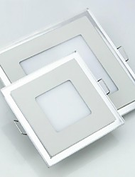 6W Square Double Color LED Panel Light  Ultrathin LED Ceiling Light