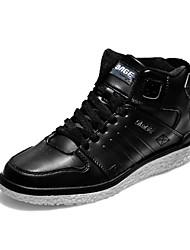 Men's Skateboarding Shoes Leatherette Black/Red/White