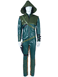 Cosplay Costumes Super Heroes Movie Cosplay Green Solid Coat / Pants / Belt / More Accessories / Cap / GauntletsHalloween / Christmas /