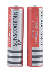 MICROCOSMOS 3.7V 4800mAh 18650 Rechargeable Lithium Ion Battery 2pcs