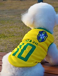 Dog / Cat Shirt / T-Shirt Yellow Summer Sport Wedding / Cosplay