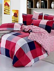 Geometric Cotton 4 Piece Duvet Cover Sets