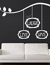 jiubai® risada das citações do amor vivo e árvore de parede ramo adesivo de parede decalque