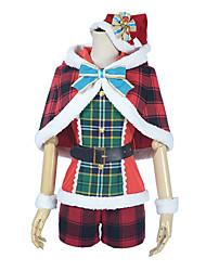 Lovelive SR Card Rin Hoshizora Cosplay Christmas Costume