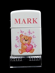 Personalized  Coon  White Oil Lighter