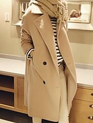 Женское модное двубортное кашемировое пальто