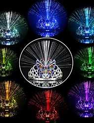 Toonykelly Decorative Colorful LED Princess Imperial Crown MITB Party Supplies(1PC)