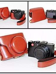 pajiatu® pu macchina fotografica del cuoio della copertura del sacchetto custodia protettiva per Panasonic Lumix LX7 LX5 fotocamera digitale