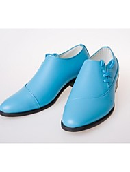 Men's Shoes Wedding/Office & Career/Casual/Party & Evening Leather Oxfords Blue