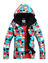 Women's Ski Ski/Snowboard Jackets Waterproof / Breathable / Wearable / Windproof / Thermal / Warm Red / Blue / OrangeSkiing / Skating /
