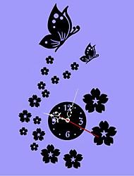 Часы настенные с цветами и бабочками с 3D эффектом