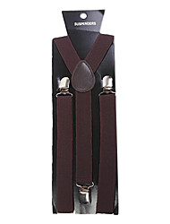 Dark Brown Solid Nylon Suspender