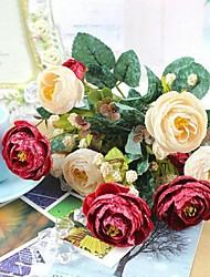 The High Grade European Style Autumn Snow Rose Simulation Flower