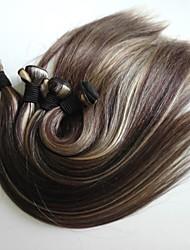 ombre t-Farbe des brasilianischen reinen Haares 5 Stück lot 20 Zoll Klasse Menschenhaars silk gerade Haarverlängerung / weben (T4 # / 613 #)